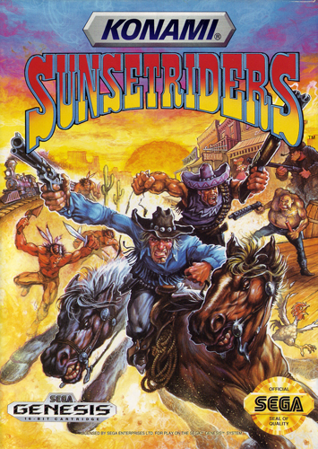 Sunset Riders Sega Genesis cover artwork
