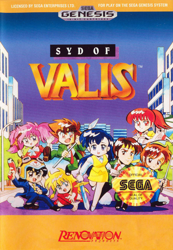 Syd of Valis Sega Genesis cover artwork