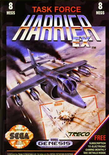 Task Force Harrier EX Sega Genesis cover artwork