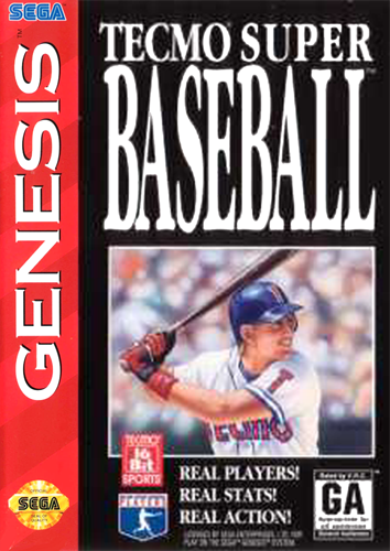 Tecmo Super Baseball Sega Genesis cover artwork