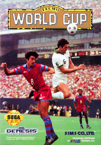 Tecmo World Cup Sega Genesis cover artwork