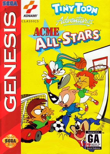 Tiny Toon Adventures - Acme All-Stars Sega Genesis cover artwork