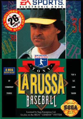 Tony La Russa Baseball Sega Genesis cover artwork