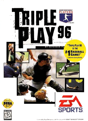 Triple Play 96 Sega Genesis cover artwork