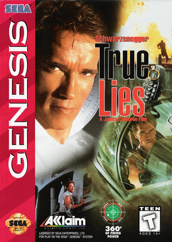 True Lies Sega Genesis cover artwork