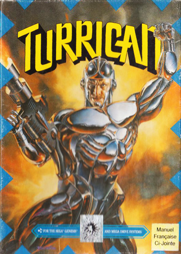 Turrican Sega Genesis cover artwork