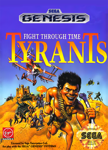Tyrants - Fight through Time Sega Genesis cover artwork