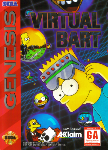 Virtual Bart Sega Genesis cover artwork