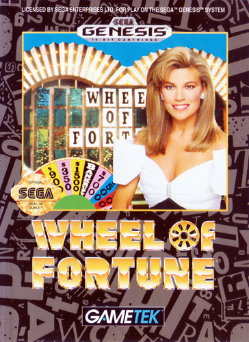 Wheel of Fortune Sega Genesis cover artwork
