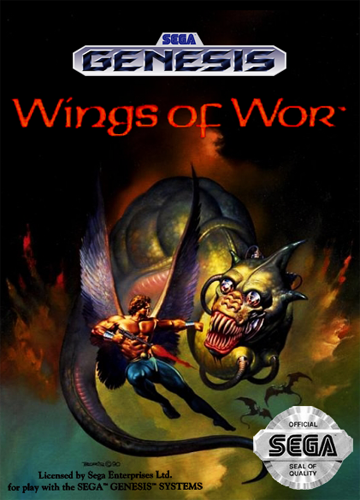 Wings of Wor Sega Genesis cover artwork