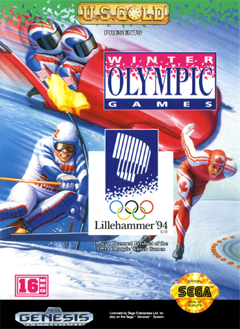 Winter Olympic Games Sega Genesis cover artwork