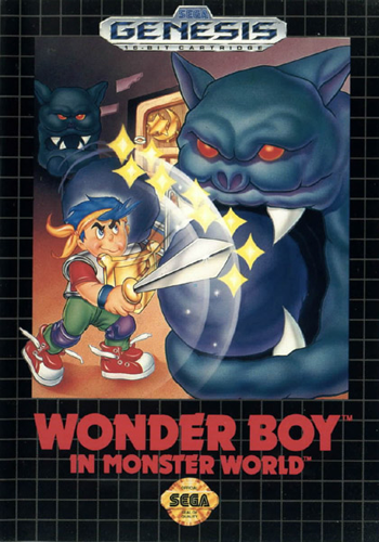 Wonder Boy in Monster World Sega Genesis cover artwork