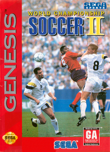 World Championship Soccer II Sega Genesis cover artwork