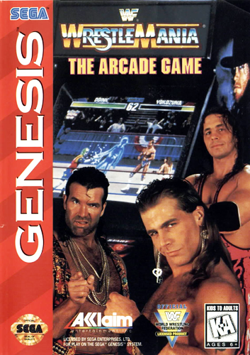 WWF WrestleMania - The Arcade Game Sega Genesis cover artwork