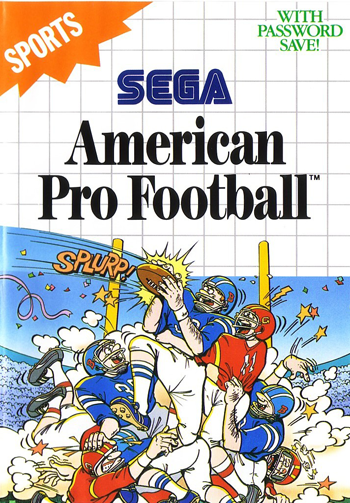 American Pro Football Sega Master System cover artwork