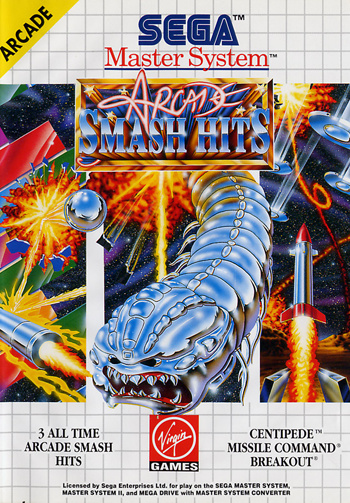 Arcade Smash Hits Sega Master System cover artwork