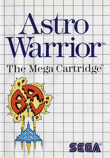 Astro Warrior Sega Master System cover artwork