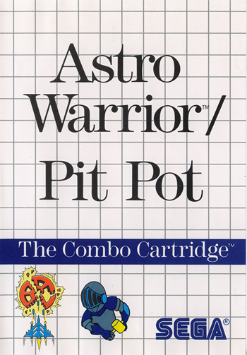Astro Warrior & Pit Pot Sega Master System cover artwork