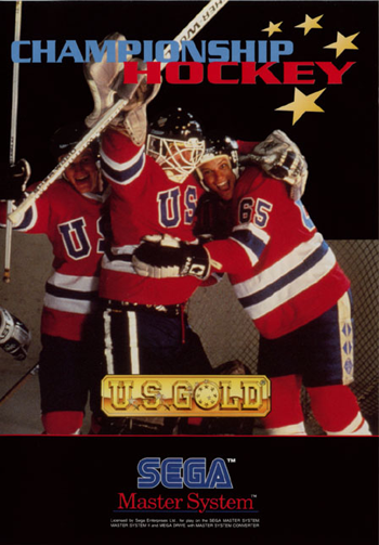 Championship Hockey Sega Master System cover artwork