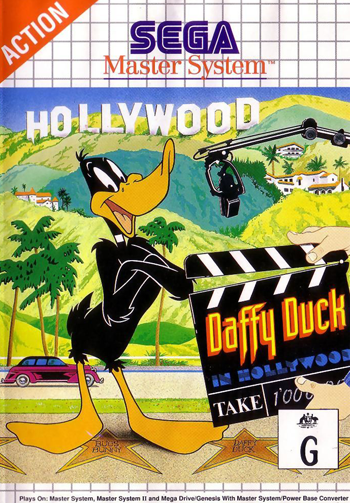 Daffy Duck in Hollywood Sega Master System cover artwork
