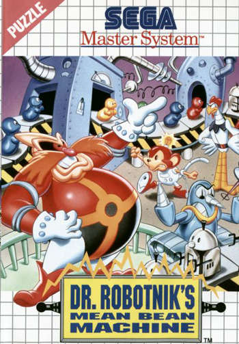 Dr. Robotnik's Mean Bean Machine Sega Master System cover artwork