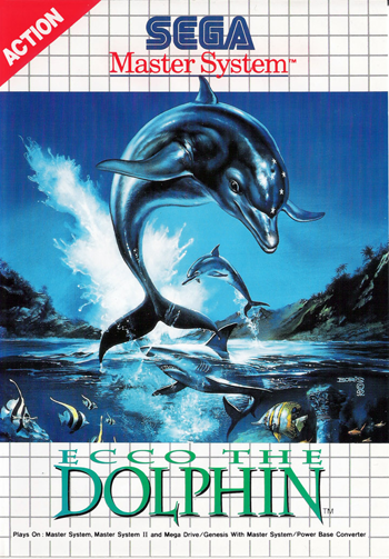 Ecco the Dolphin Sega Master System cover artwork