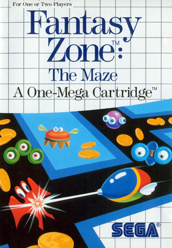 Fantasy Zone - The Maze Sega Master System cover artwork