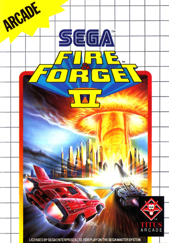 Fire & Forget II Sega Master System cover artwork
