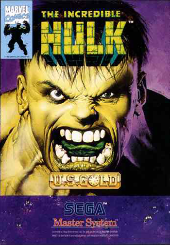 Incredible Hulk, The Sega Master System cover artwork