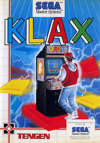Klax Sega Master System cover artwork