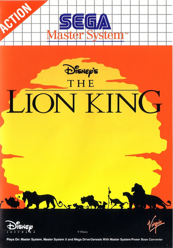 Lion King, The Sega Master System cover artwork