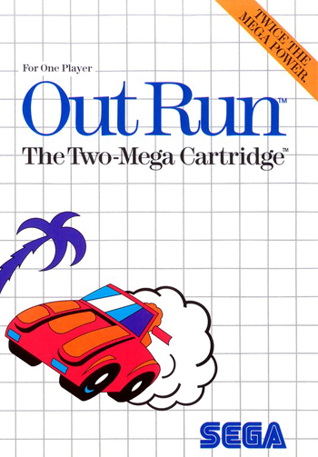 Out Run Sega Master System cover artwork