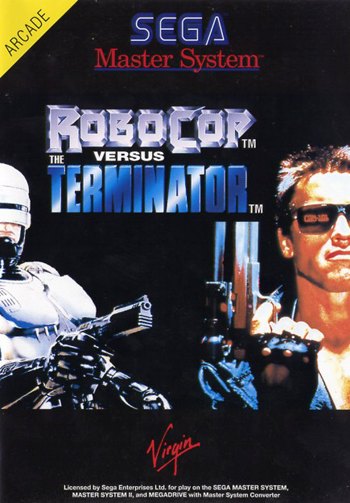 RoboCop versus The Terminator Sega Master System cover artwork