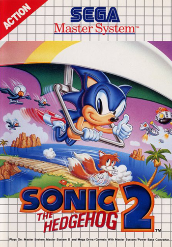 Sonic the Hedgehog 2 Sega Master System cover artwork