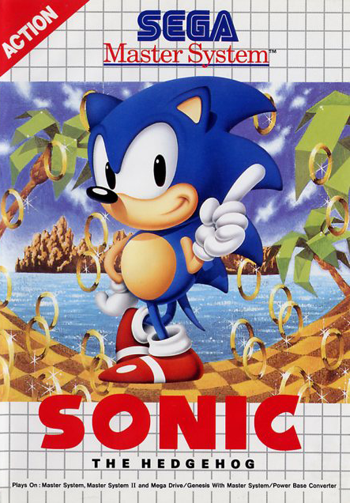 Sonic The Hedgehog Sega Master System cover artwork