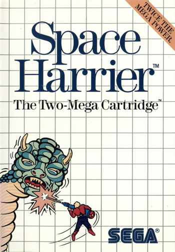 Space Harrier Sega Master System cover artwork
