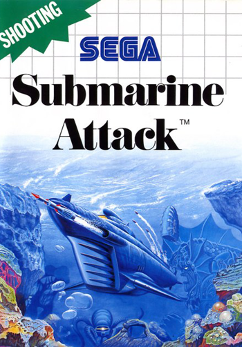 Submarine Attack Sega Master System cover artwork