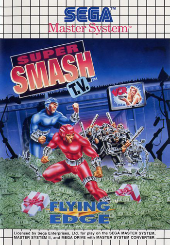 Super Smash T.V. Sega Master System cover artwork