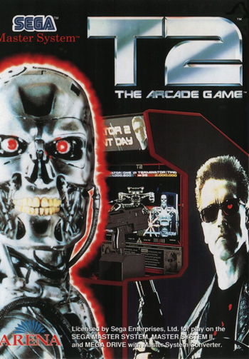T2 - The Arcade Game Sega Master System cover artwork