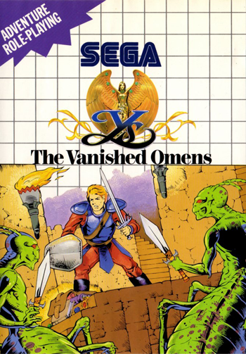 Ys - The Vanished Omens Sega Master System cover artwork