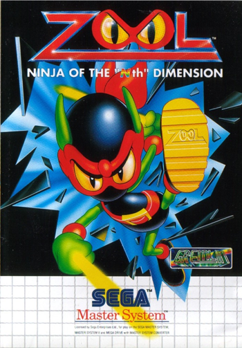 Zool - Ninja of the 'Nth' Dimension Sega Master System cover artwork
