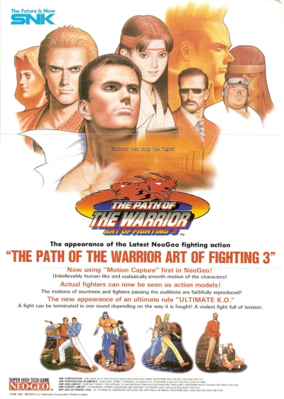 Art of Fighting 3 - The Path of Warrior SNK NEO GEO cover artwork