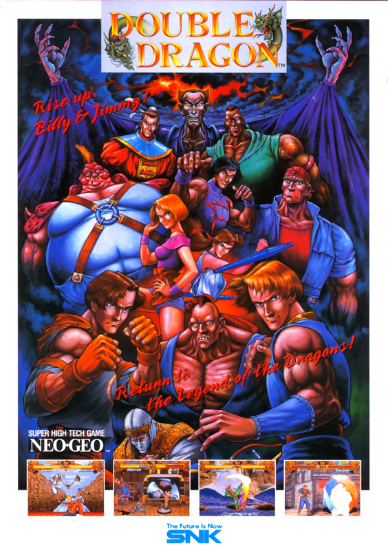 Double Dragon SNK NEO GEO cover artwork