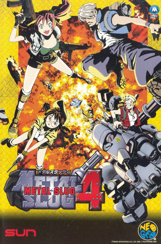 Metal Slug 4 SNK NEO GEO cover artwork