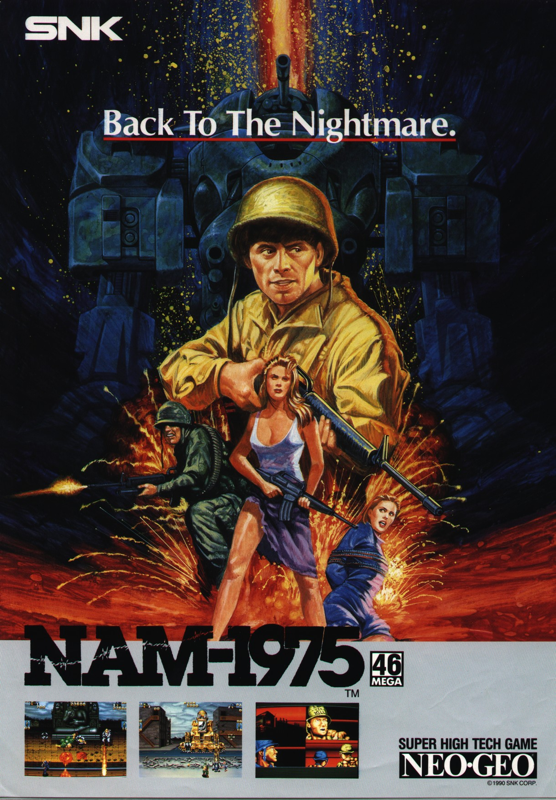 NAM-1975 SNK NEO GEO cover artwork