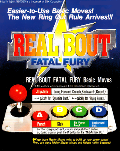 Real Bout Fatal Fury SNK NEO GEO cover artwork