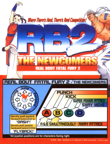 Real Bout Fatal Fury 2 : The Newcomers SNK NEO GEO cover artwork