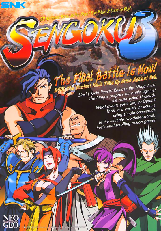 Sengoku 3 : Sengoku Legends 2001 SNK NEO GEO cover artwork