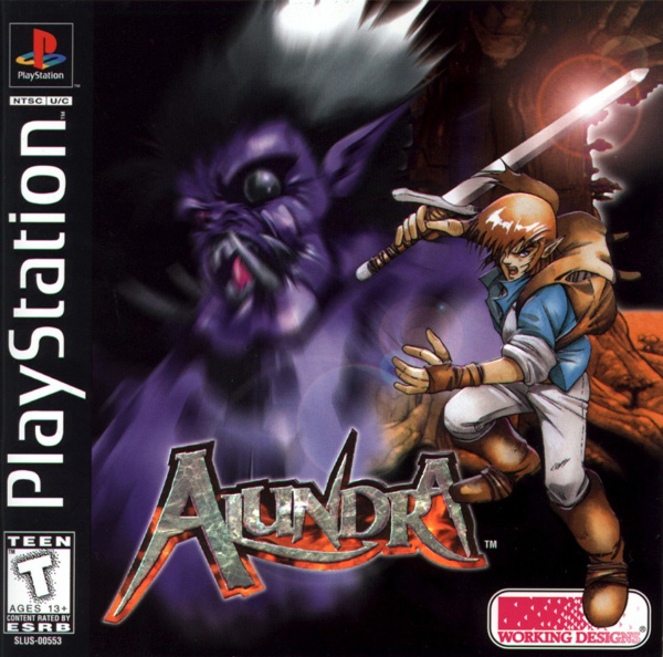 Alundra Sony PlayStation cover artwork