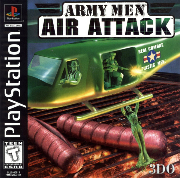 Army Men - Air Attack Sony PlayStation cover artwork